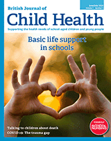 British Journal of Child Health – Covid-19 in schools