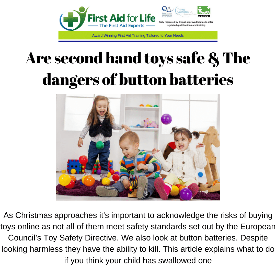 Second hand toys and button batteries